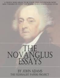 the novanglus essays by john adams