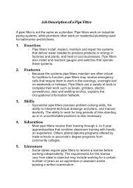 Job Description Of A Pipefitter Did You Know Pinterest Job