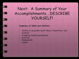Best adjectives to describe yourself in a resume aaa aero inc us