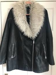woman s black fur coat new look