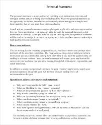 11+Residency Personal Statement Examples | Proposal Bussines