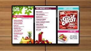 How To Design A Digital Menu Board Sample Digital Menu Board Juice Restaurant