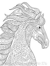 Small Picture Wild Horse Coloring Page Printable Coloring Pages Adult Coloring