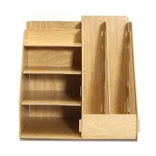 Unfinished Wood Magazine Holder Inspiration Multipurpose Office Wood Desk Organizer File Holder Rack Folder Book