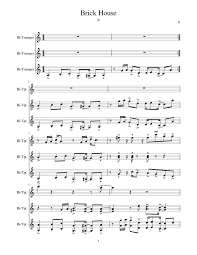 Brick House Horn Chart Brick House Sheet Music For Trumpet Download Free In Pdf Or Midi