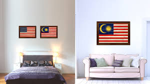 Small Picture Malaysia Country Texture Flag Rustic Vintage Gicle Print Home
