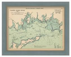 Fishers Island Sound Nautical Chart By George W Eldridge 1901 Colored Version