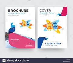 Child Care Brochure Design Childcare Brochure Flyer Design Template With Abstract Photo
