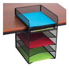 Desk Organizer Amazoncom Safco Products 3258bl Onyx Mesh Desktop Organizer