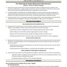 Remarkable Human Resources Generalist Resume Hr Examples Cover