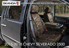 coverking realtree max 5 camo seat covers for 2016 2018 chevy silverado 2500
