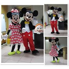 Mickey and Minnie <b>Mascot Costume Cartoon Character</b> Party ...