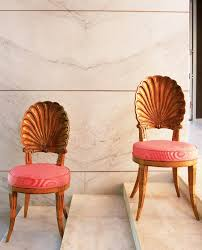 needle haystack furniture. Absolutely GORGEOUS Seashell-back Dining Chairs With Coral Cushions And Wooden Legs.   Prettystuff Needle Haystack Furniture N