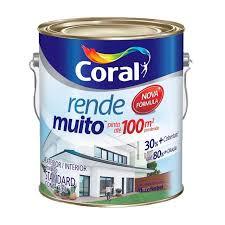 É indicado também para paredes externas por ser uma tinta com mais resistência e proteção contra formação de algas. Tinta Acrilica Fosca Amarelo Frevo 3 6l Rende Muito Coral 5202191 Armazem Coral