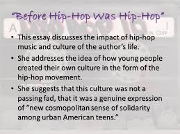 unit literary nonfiction ppt video online  before hip hop was hip hop