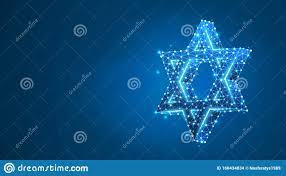 Christmas Lights Star Of David Star Of David Six Pointed Geometric Star Symbol Of Modern