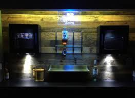 man cave bar. Lighting For Man Cave Bar. I Added A Few More Bottles And That Was Pretty Much It Finished\u2026. All Need Is Bar Stools May Add Another Set Of T
