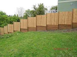 uneven ground eared picket company rosemount mn yourhyoucom ing a privacy on slope best rhlineboardsite ing