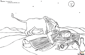 Small Picture The Sleeping Gypsy By Henri Rousseau coloring page Free