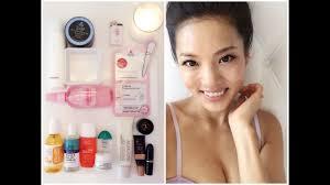 sunday self care skincare makeup routine