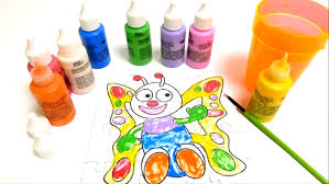 kids paint color. Fine Paint Finger Painting Colors  Coloring A Butterfly Puzzle School For  Kids YouTube And Paint Color B