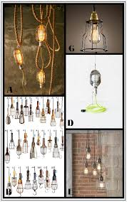 Industrial Cage Work Light Chandelier How To Make Diy Industrial Cage Work Lights For Under 10