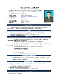 Word Template For Resume Saneme