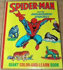 Spider man coloring sheets for kids | print and color our free spiderman coloring pages. Amazing Spiderman Giant Color Learn Book Endangered Species Vg 1978 Coloring Ebay
