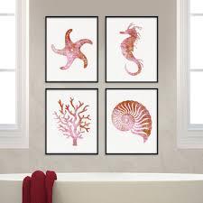 sea life wall decor on tropical wall art sets with 16 sea life wall decor sea life print shark wall decor shark print