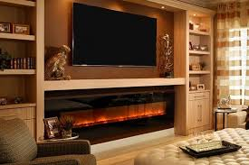architecture flush mount electric fireplace stylish recessed pebble wall mounted linear regarding 0 from flush