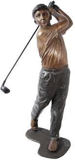 life size bronze golfer garden statue available at allsculptures