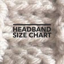 Headband Size Chart Headband Size Chart