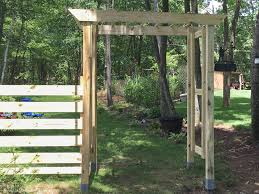 This simple DIY arbor is so great! No fancy cuts or complicated angles.