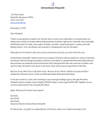 Donation Letter Samples How To Write The Perfect Donation Letter Examples Template