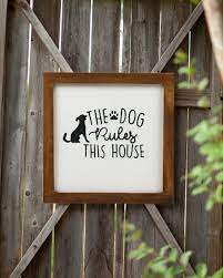 dog sign home decor rustic decor ideas
