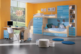 beautiful yellow blue wood glass luxury design kids room children wall glass wood bed white mattres furniture for boys room