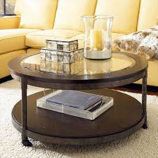 lovely round glass top coffee table with storage idea plus yellow with recent round glass and