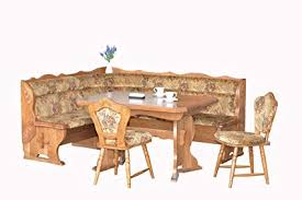 Image Leather European Dining Furniture Set Breakfast Nook Bench Made From Oak Piece Corner Dining Amazoncom Amazoncom European Dining Furniture Set Breakfast Nook Bench