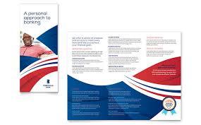 Brochure Design Samples Bank Brochure Template Design