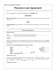 Promissory Note Template For Family Member Sample Loan Agreement Promissory Note Simple For Family