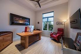 contemporary home office ideas. Contemporary Elegant Looking Home Office With Cove Ceiling And Television On Wall.Photo By Distinctive Communities - Browse Ideas D