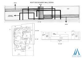 Small Picture Recently Designed Boundary Wall Sketch Work by Architect at AAA