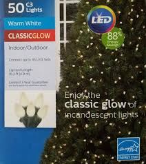 Philips String Lights Philips 50ct Warm White Led Smooth C3 String Lights Green Wire 16 3 Lighted Length