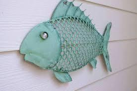 beach themed metal wall art elegant nautical decor fish sea foam green kids room decorating ideas