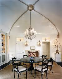 cathedral ceiling lighting options. Decorations:Classy Dining Room Design With High Ceiling Chandelier And Round Shape Black Table Cathedral Lighting Options