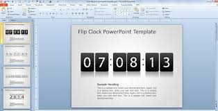 Countdown Clock For Powerpoint Presentation Free Flip Clock Powerpoint Template