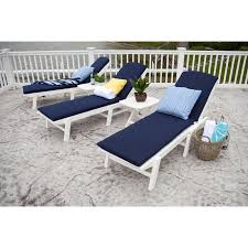 image of pool lounge chair cushions navy