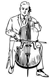 Kleurplaat Cello Afb 13293 Images