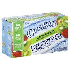 capri sun roarin waters flavored water beverage strawberry kiwi
