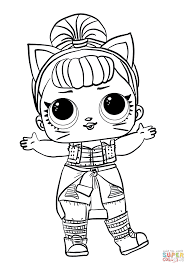 Lol Surprise Doll Troublemaker Coloring Page Free Printable